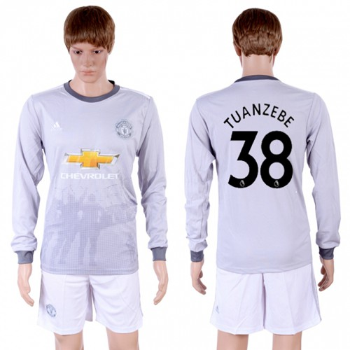 Manchester United #38 Tuanzebe Sec Away Long Sleeves Soccer Club Jersey